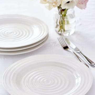 Side Plates, Set of 4 - 6 Inches; White