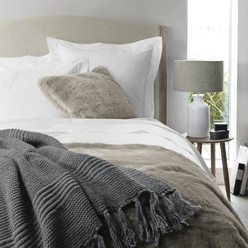 Savoy Oxford Pillowcase, Standard, White