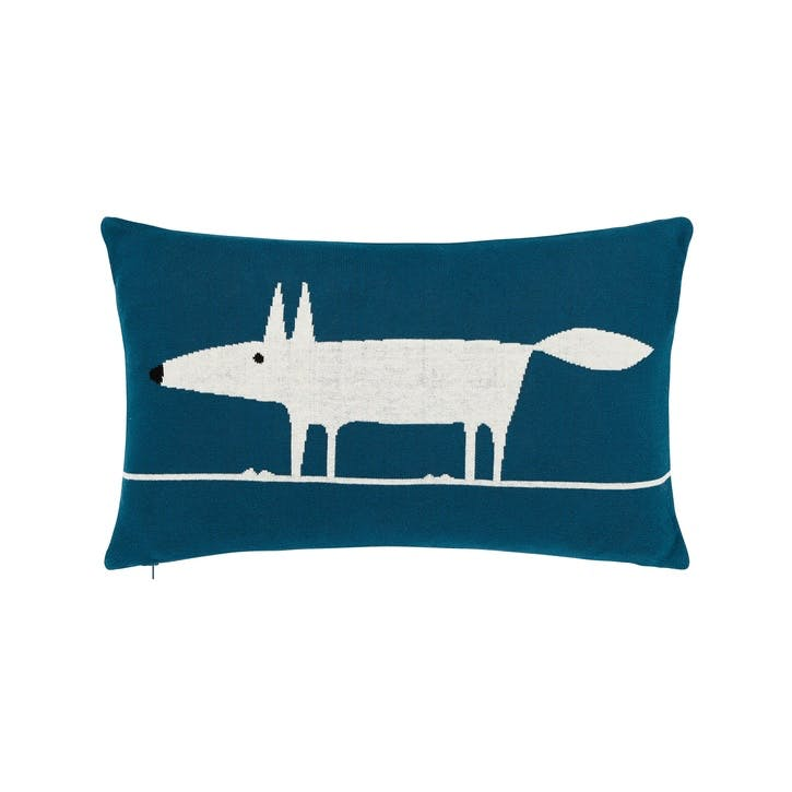Mr Fox Cushion 30 x 50cm, Marine