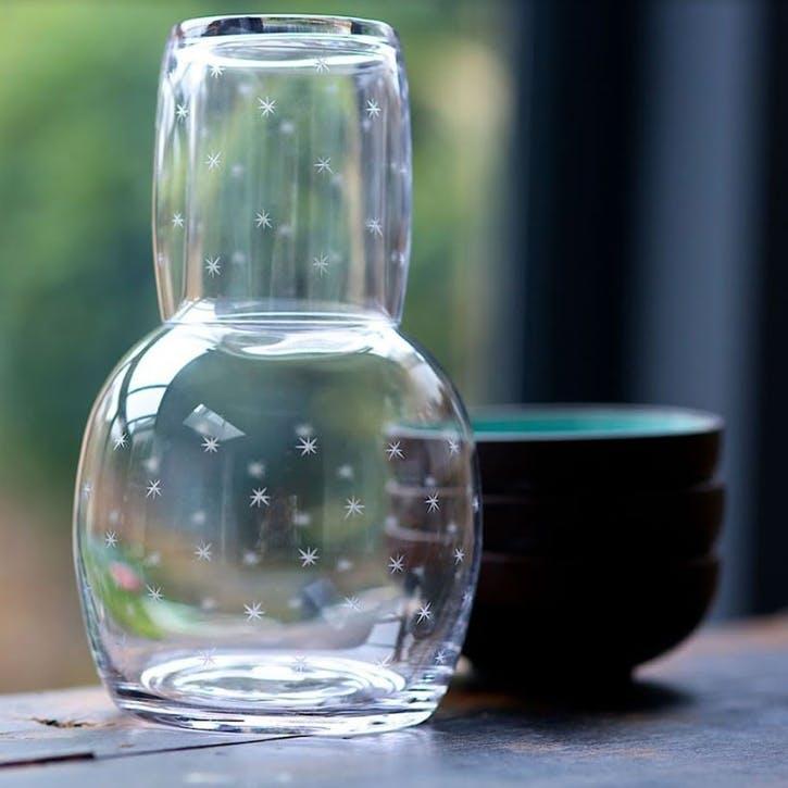 Stars Crystal Carafe & Glass Set