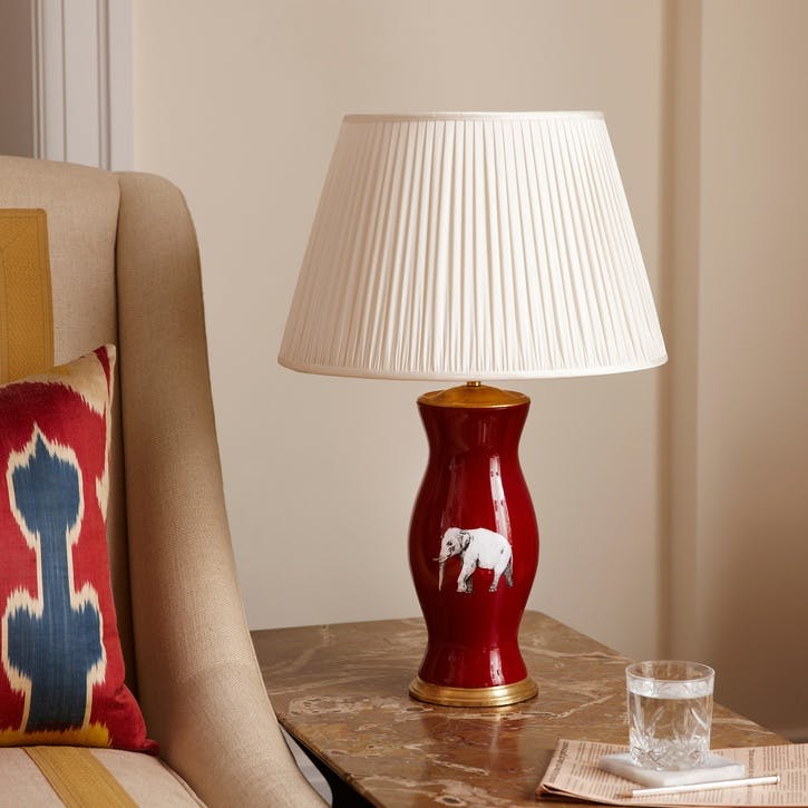 'The Elephant In The Room' Lamp Base, Burgundy