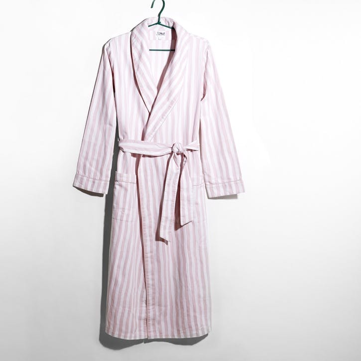 Stripe Dressing Gown,Medium, Pink