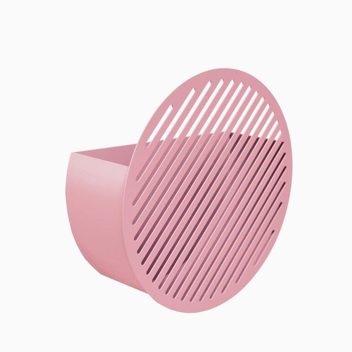 Diagonal, Medium Wall Basket, Pink