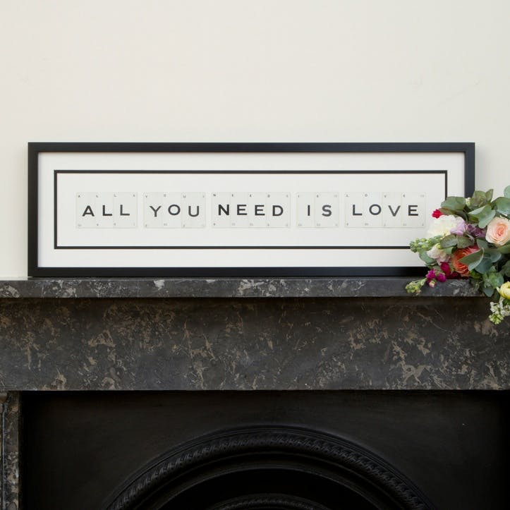 'All You Need Is Love' Word Frame