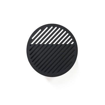Diagonal, Small Wall Basket, Black