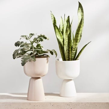 Nappula Plant Pot, Beige, Small