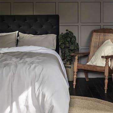 Complete Bedding Bundle Kingsize with Kingsize Pillowcases Dove Grey