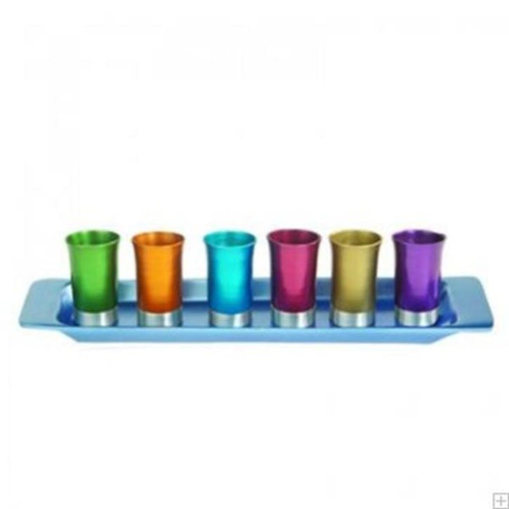 Rainbow Small Cup and Tray Set
