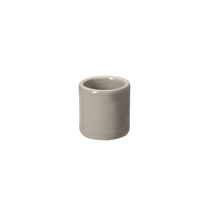 Aparte Stoneware Napkin Rings, Set of 6, Taupe