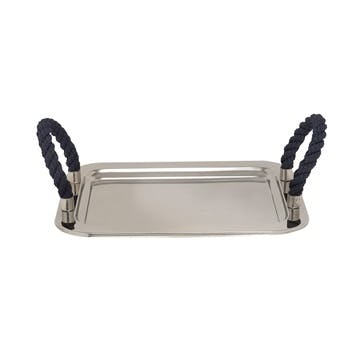 Stainless Steel Serving Tray, L36 x W30cm