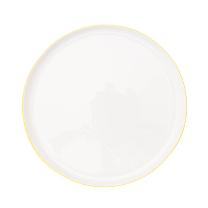 Abbesses Dinner Plate, Yellow