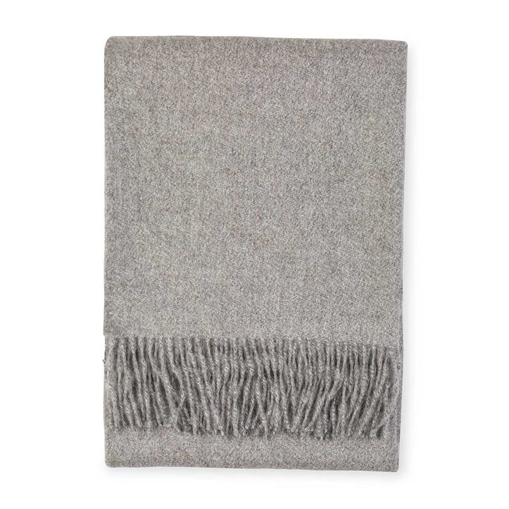 Alpaca Throw, Slate