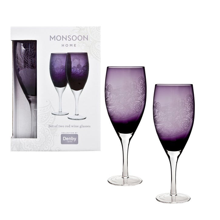 Cosmic Set of 2 Red Wine Glasses, 475ml