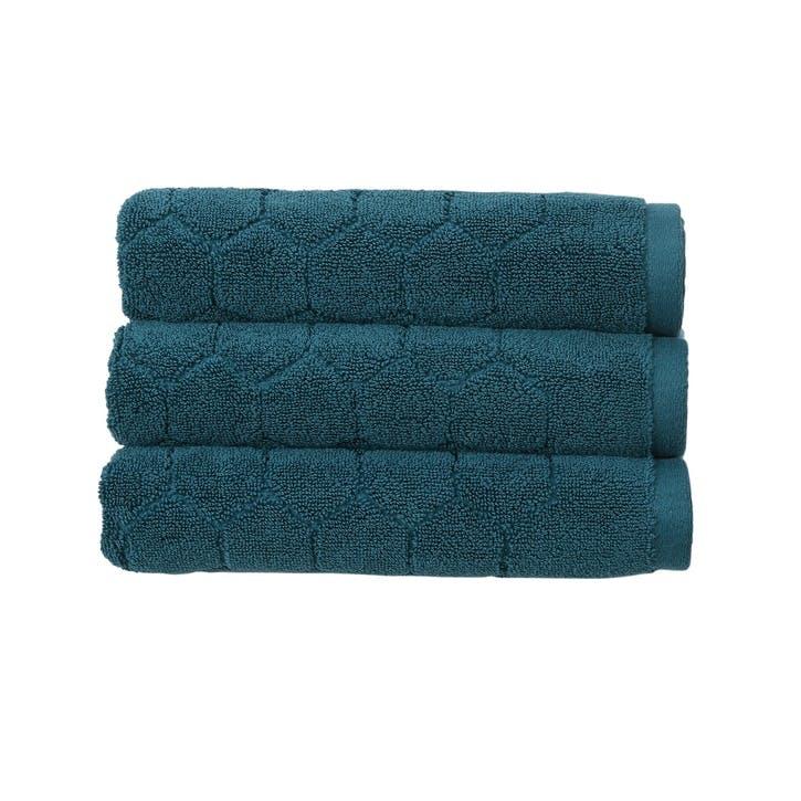 Honeycomb Bath Sheet, Peacock