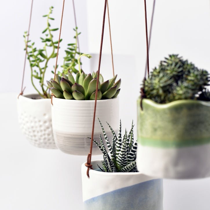 Indoor Hanging Pot, Ripple Design