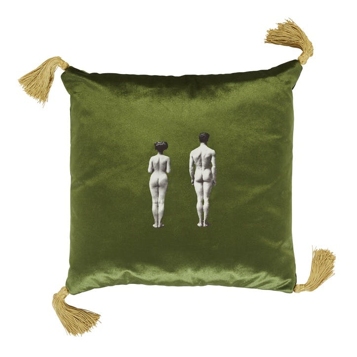 The Models Velvet Cushion, Meadow Green