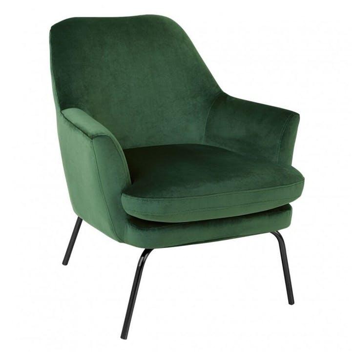 Celine Velvet Armchair, Green