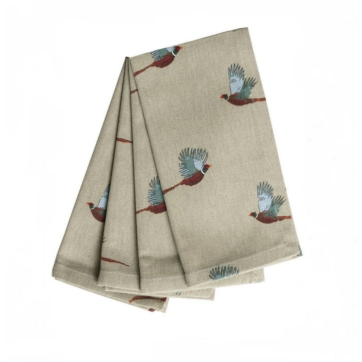 'Pheasant' Napkins, Set of 4