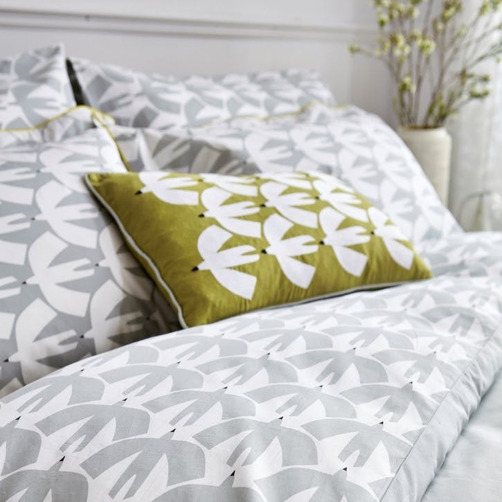 Pajaro Housewife Pillowcases, Pair, Steel