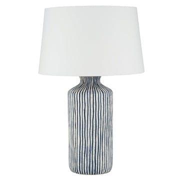 Tall Blue Stripe Ceramic Table Lamp Base