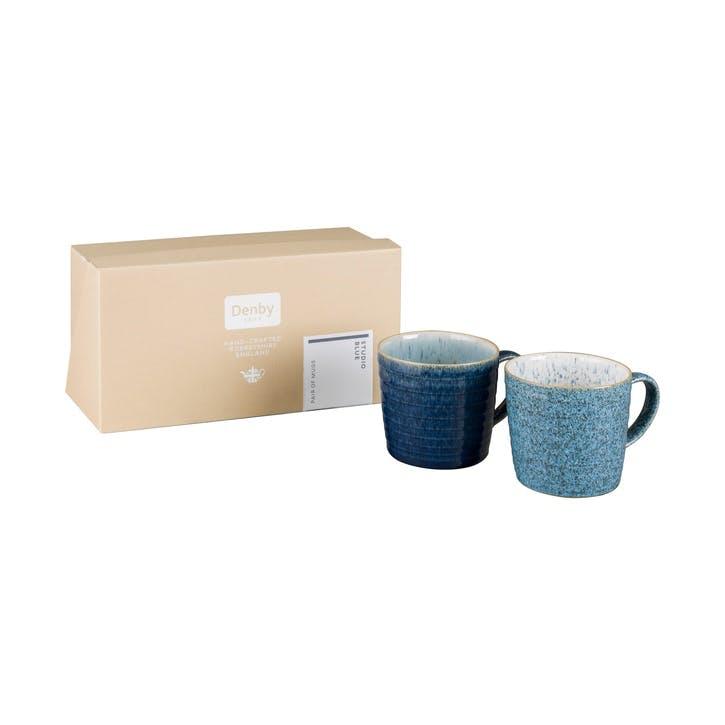 Studio Blue Set of 2 Ridged Mug Set