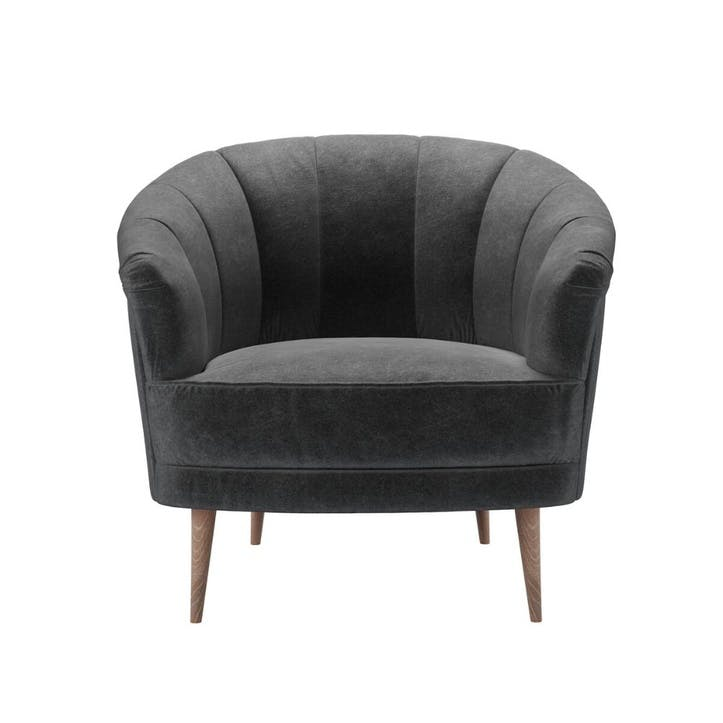 Harper, Armchair, Armour Smart Velvet