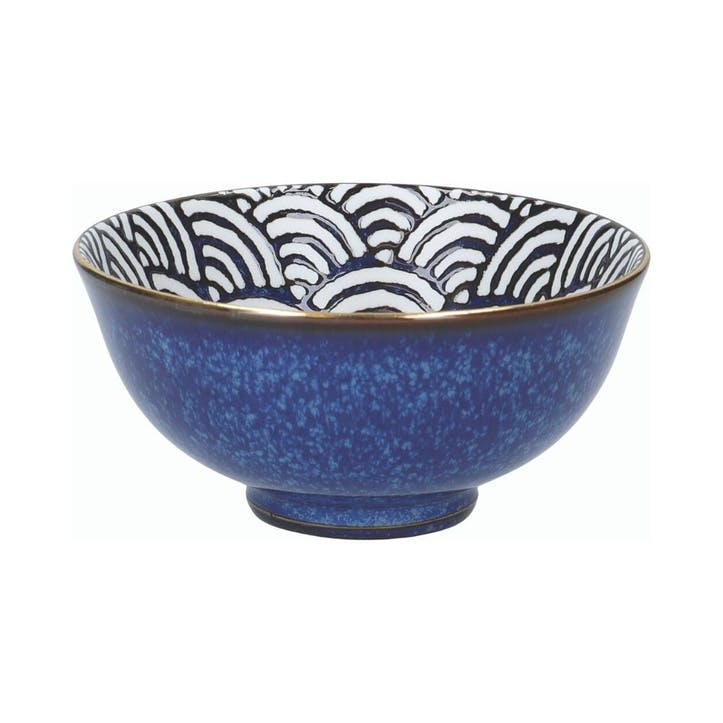 Satori Miso Serving Bowl, Seigaiha Border