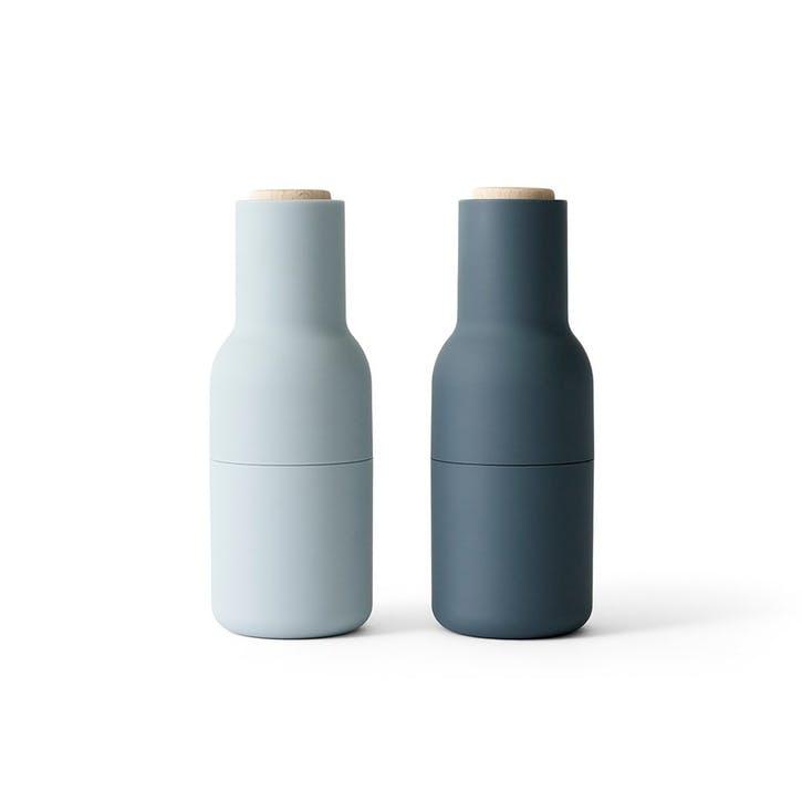 Bottle, Pair of Grinders, H21 x L8cm, Blue