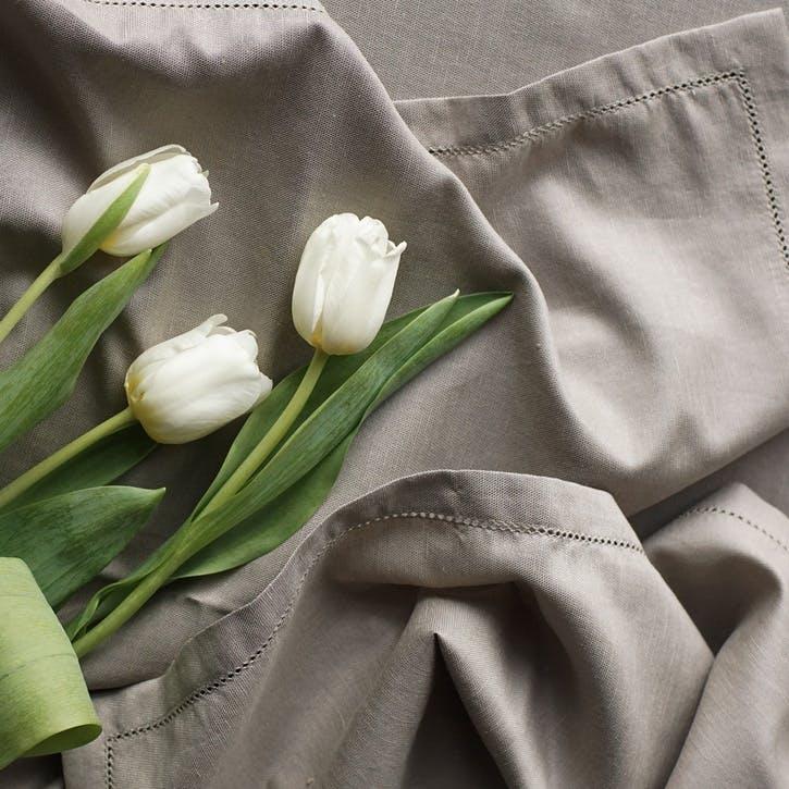 Linen & Bamboo Blend Napkin Set, Raw Beige