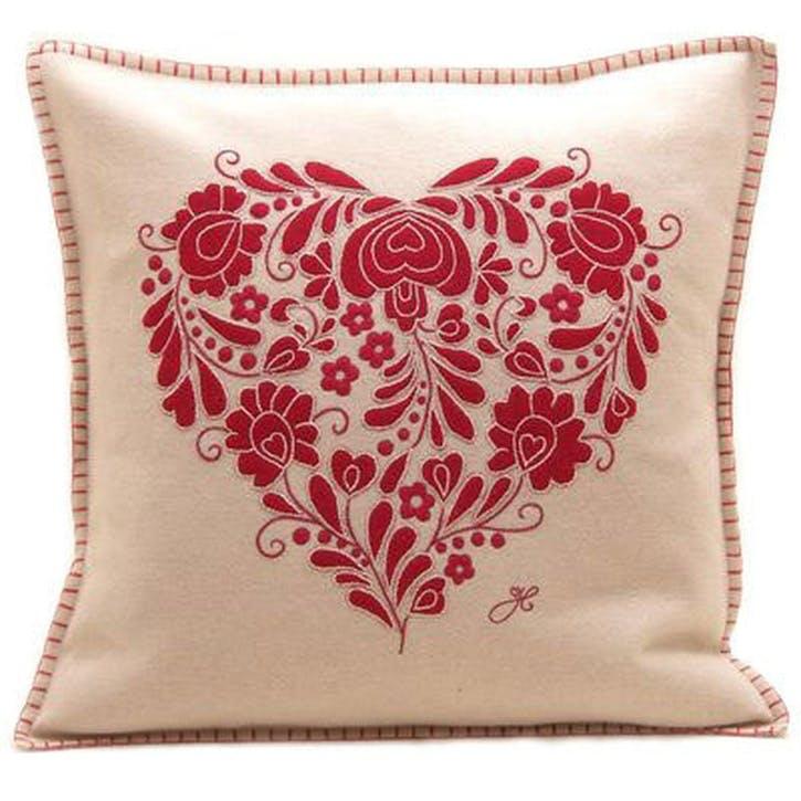 Luxury Romany Heart Cushion