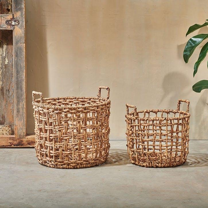 Kora, Round Storage Basket, Small, Natural