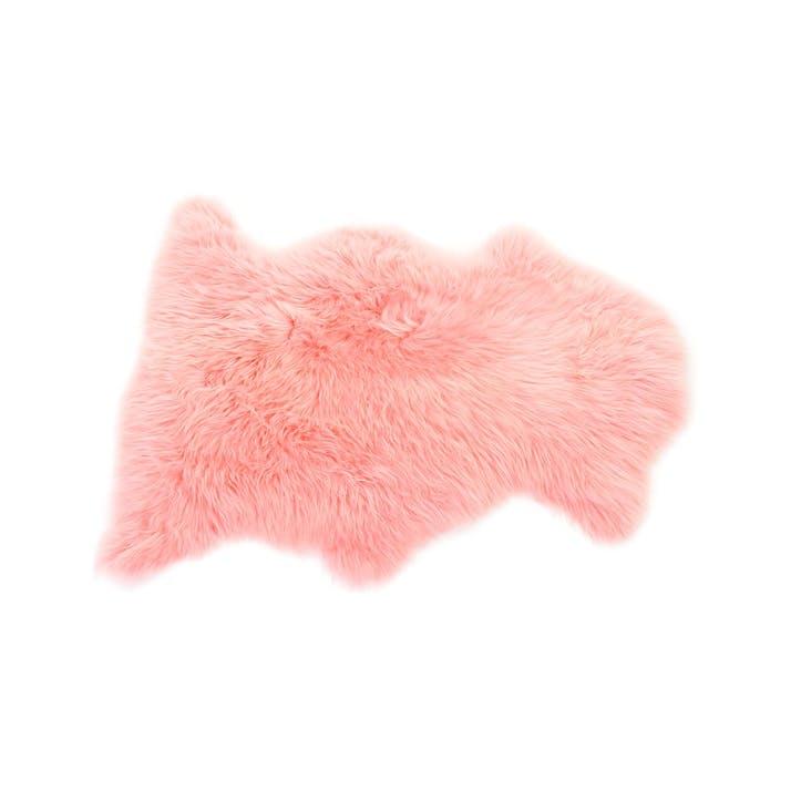 Baa Stool Sheepskin Rug, Baby Pink