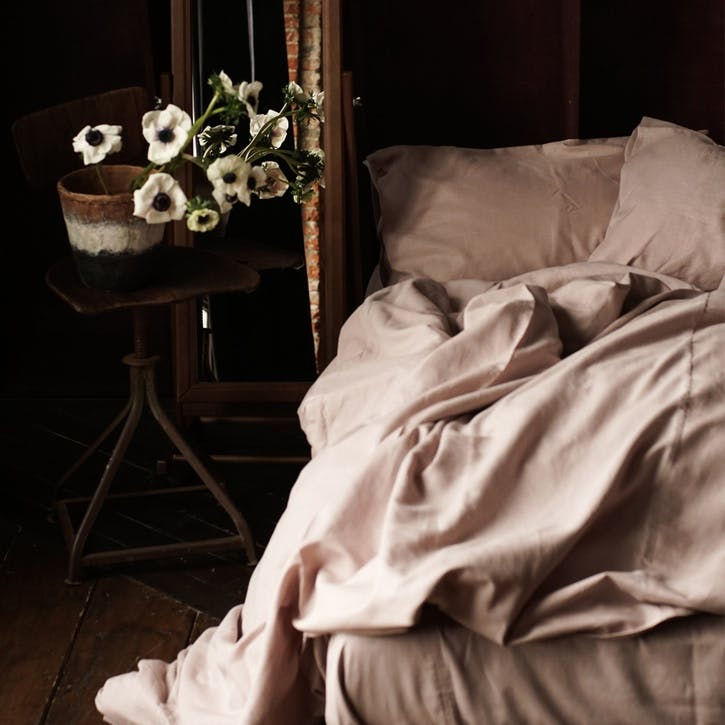 Linen & Bamboo Blend Bedding Set, King, Champagne Pink