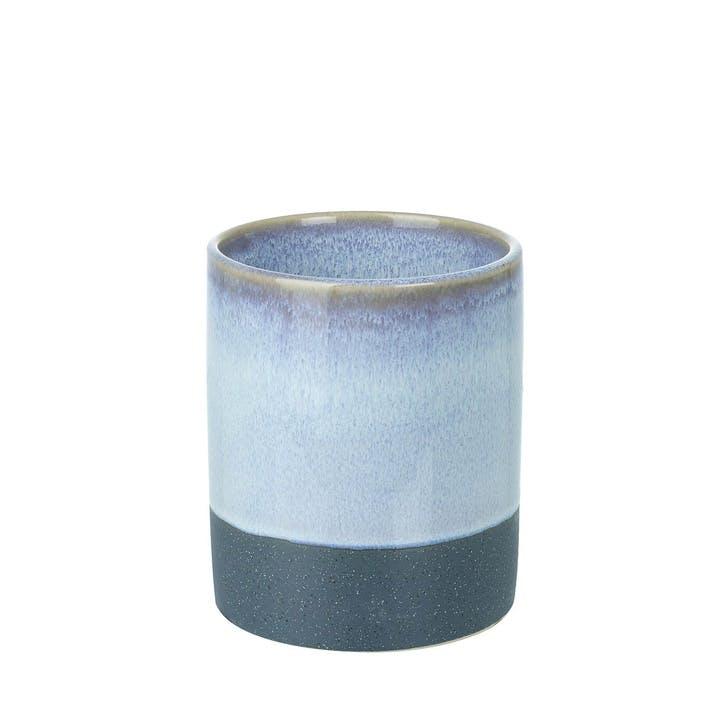 Dual Tone Stoneware Bud Vase, Small