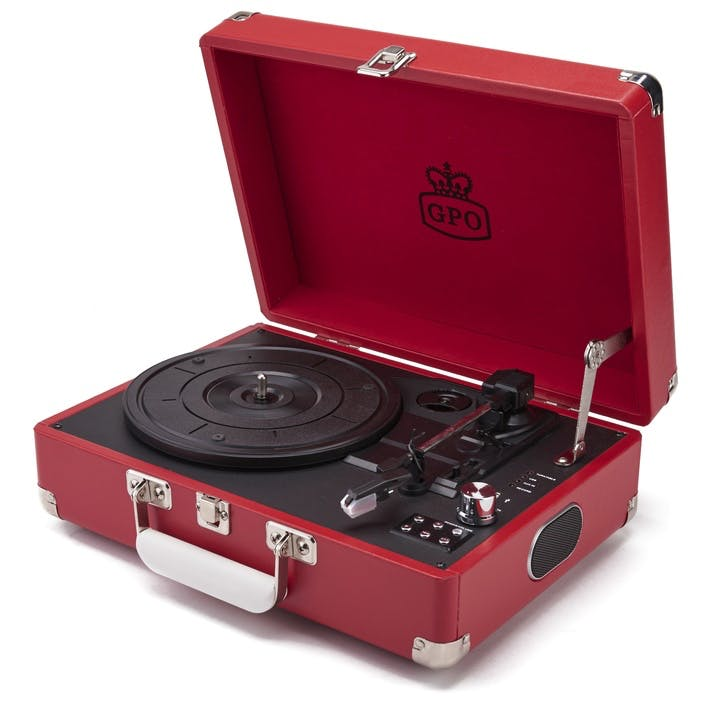 Attaché Case Turntable; Pillar-Box Red