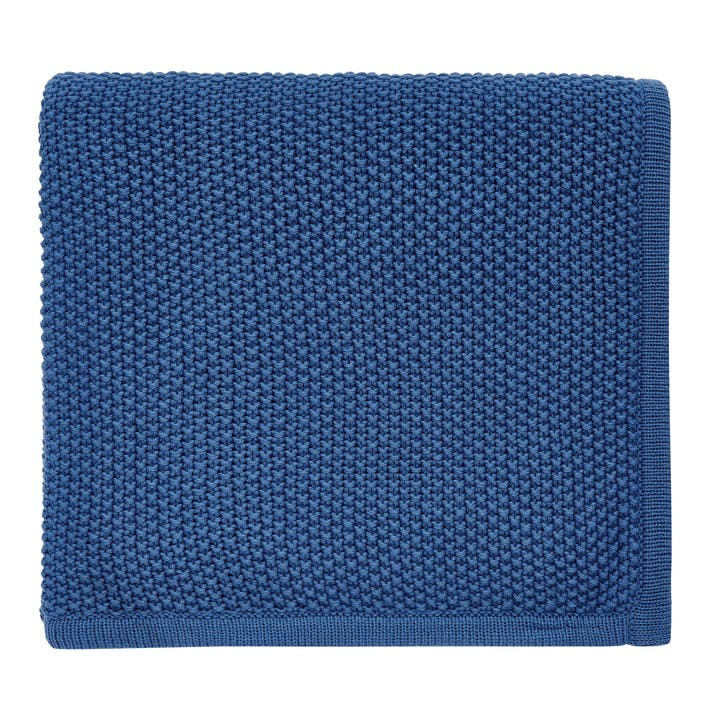 Tilde Knitted Throw, Blue