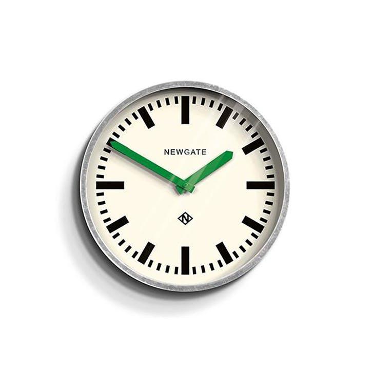 The Luggage, Wall Clock, W30cm x D7cm x H30cm, Green hands