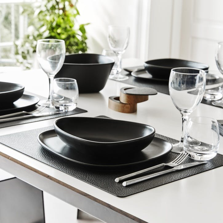 Placemat, Set of 4, Hippo Black/ Anthracite