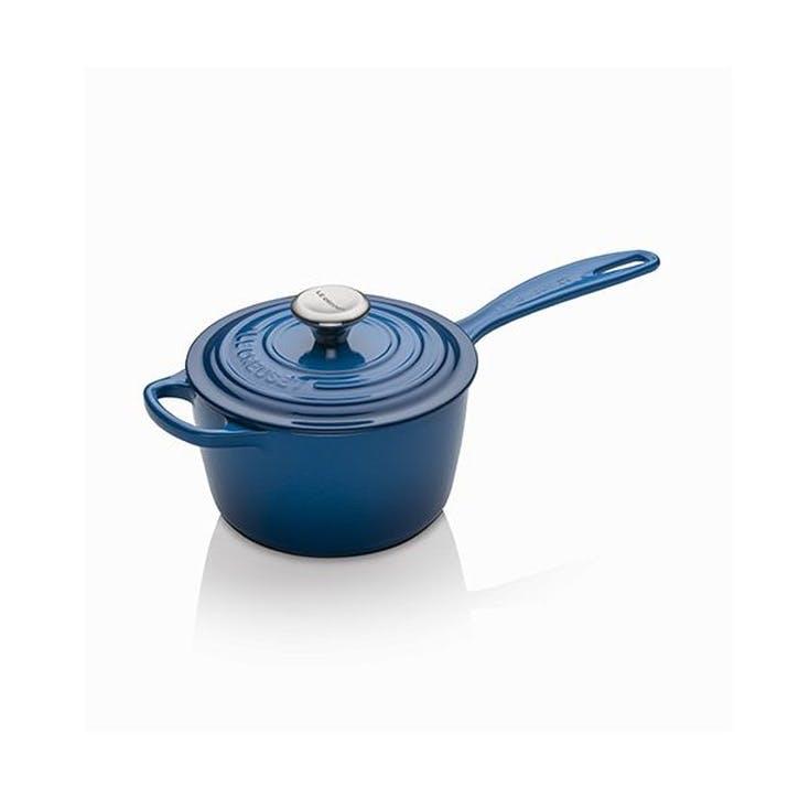 Cast Iron Signature Saucepan - 16cm; Marseille Blue