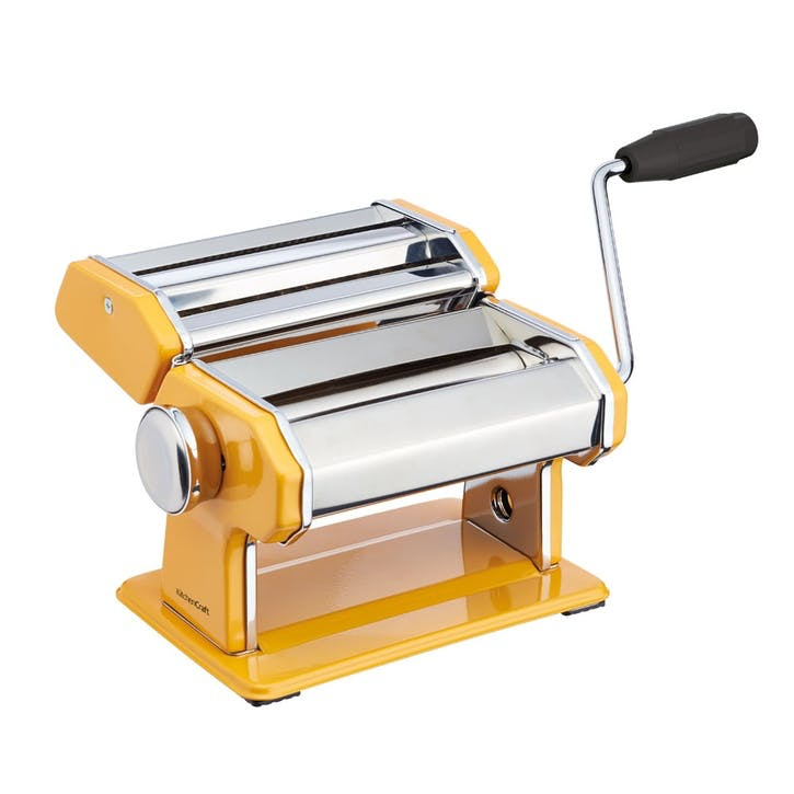 World of Flavours Stainless Steel Pasta Maker, Yellow