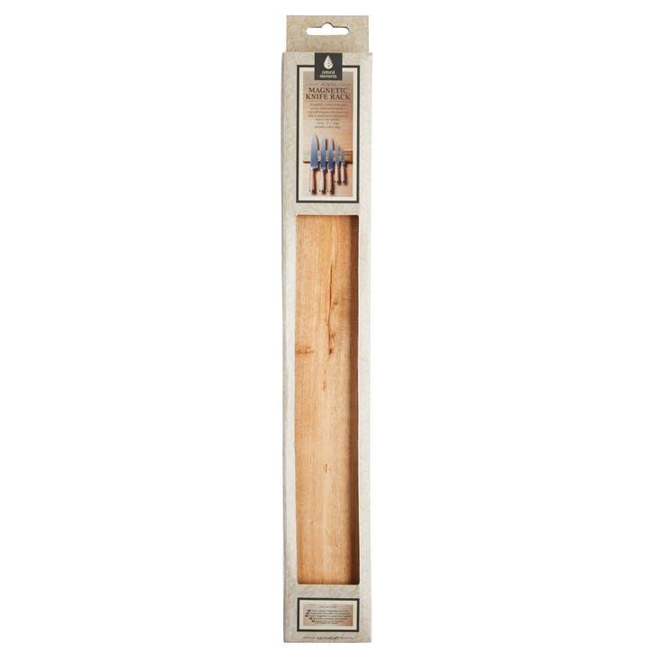 Natural Elements Acacia Wood Magnetic Knife Holder