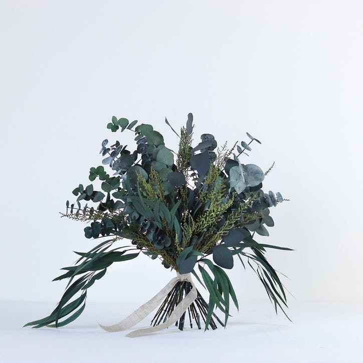 Hand-Tied Medium Bouquet, Greenery & Neutrals