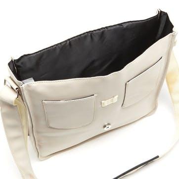 Record Bag; Cream/Tan