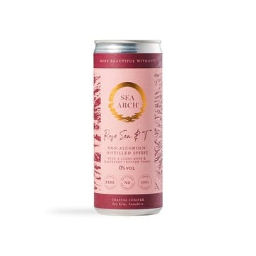 Sea Arch Non-Alcoholic Light Rose & Rosemary Infused Tonic Cans, Pack of 12