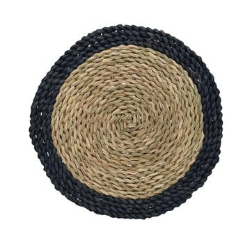 Woven Grass Place Mat, Set of 2, Blue