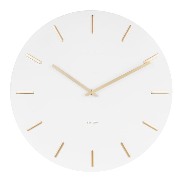 Charm Wall Clock, White
