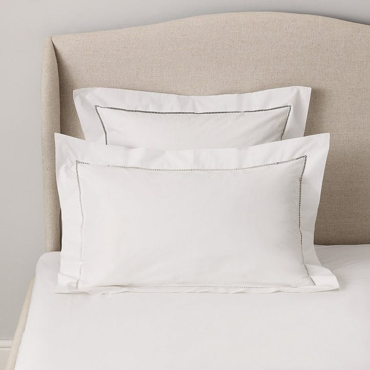 Santorini Oxford Pillowcase, Superking, White