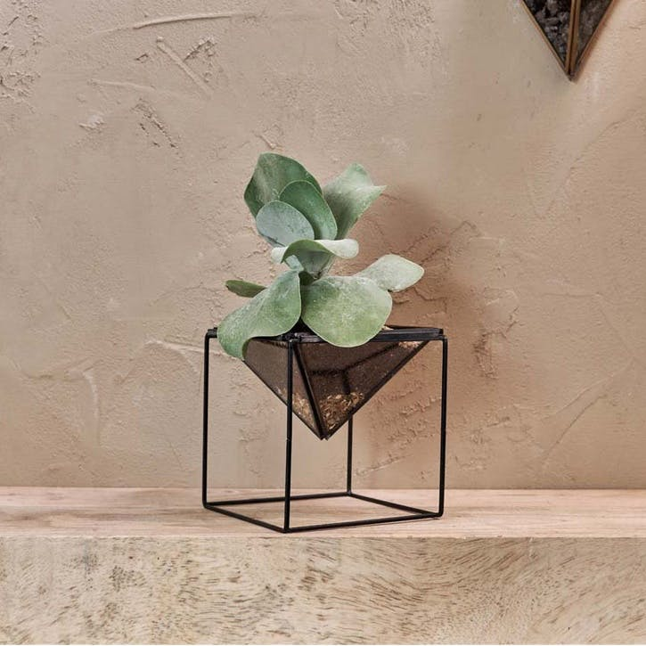 Karana Planter On Stand; Antique Black