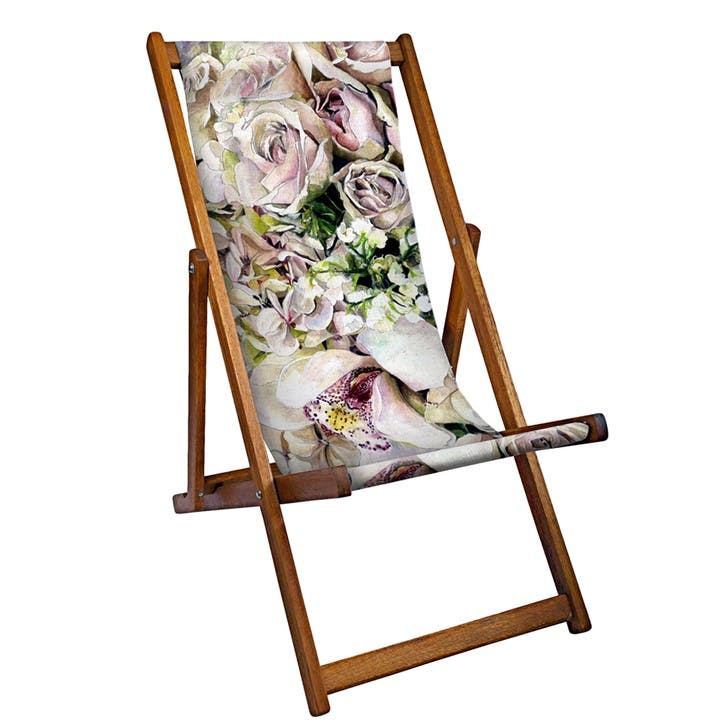 Deckchair Pink Flowers