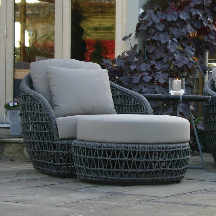 Playa Woven Lounge Chair & Footstool